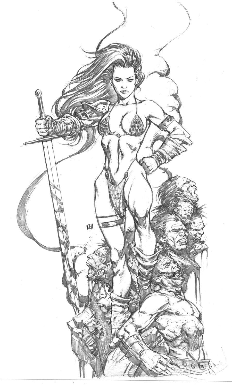 Red Sonja commision piece by keucha.deviantart.com on @deviantART