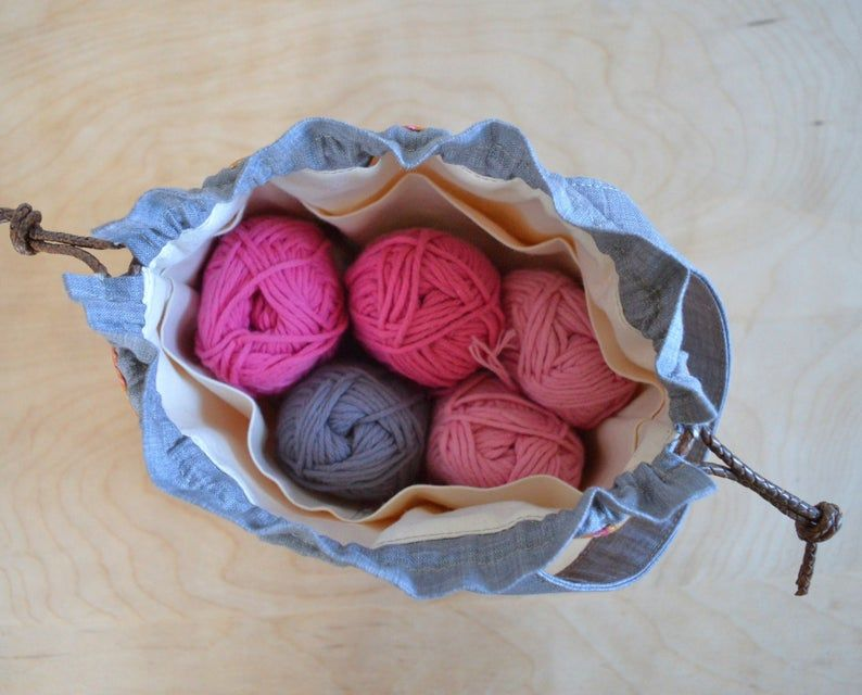 Project Bag SEWING PATTERN for beginners, easy Knitting ...