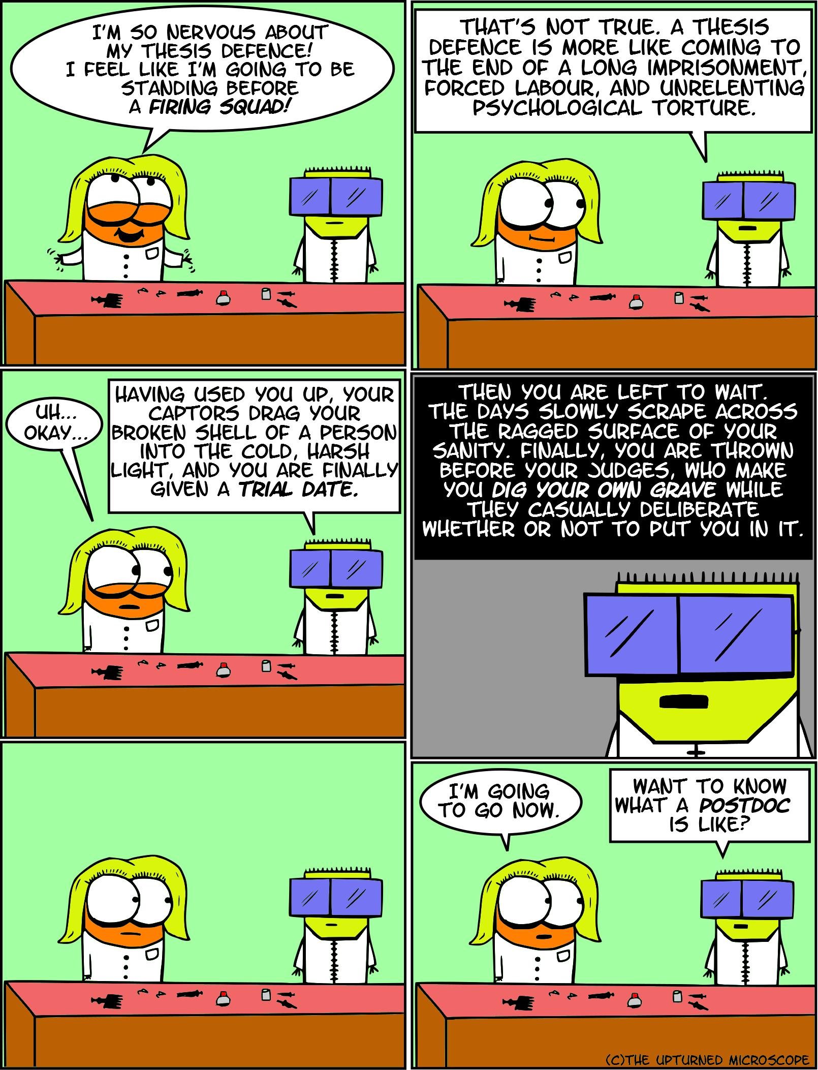 Science thesis jokes