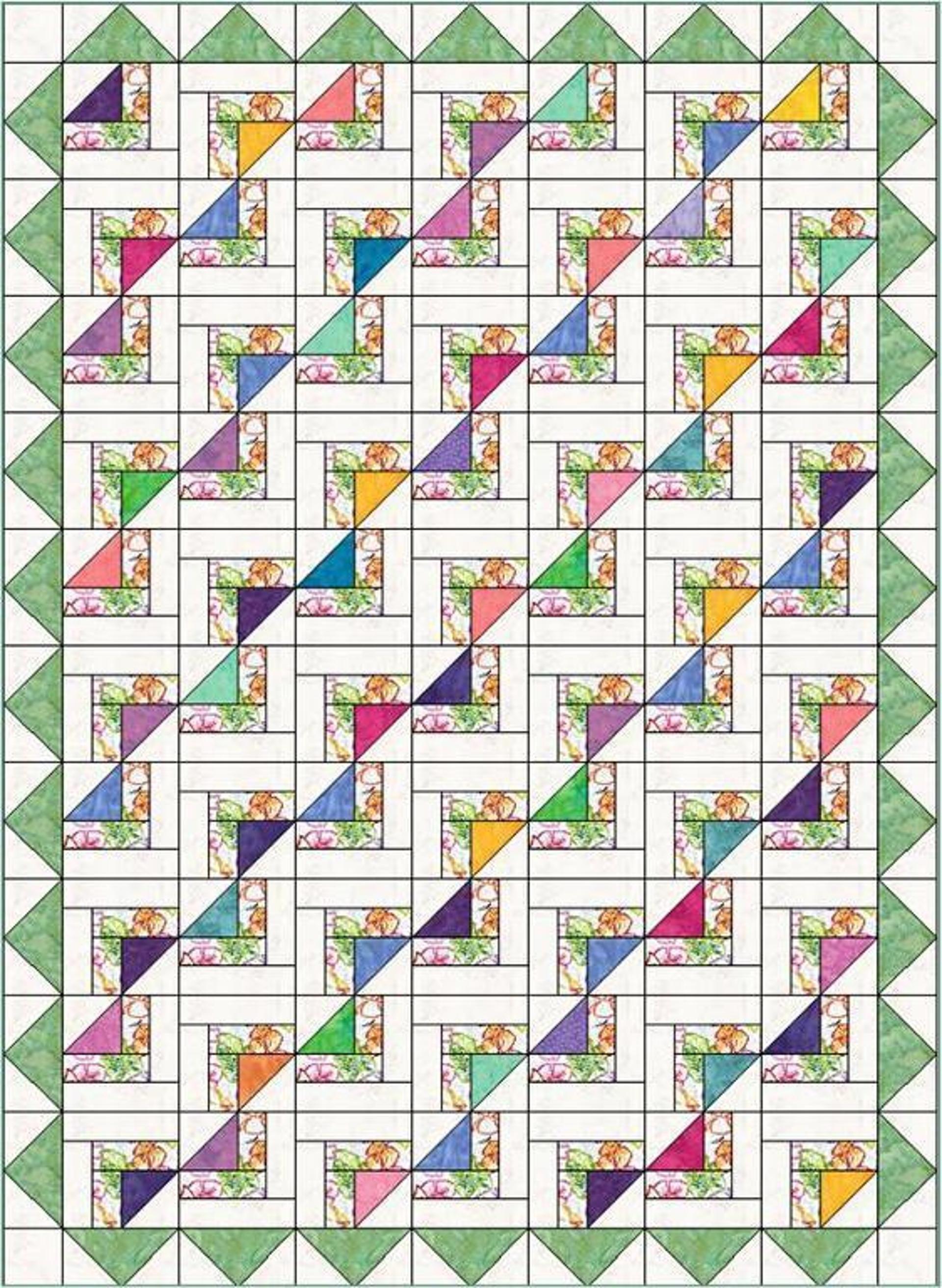 Newport Fantasy Quilt Pattern | pola utk runner dr perca | Pinterest ...