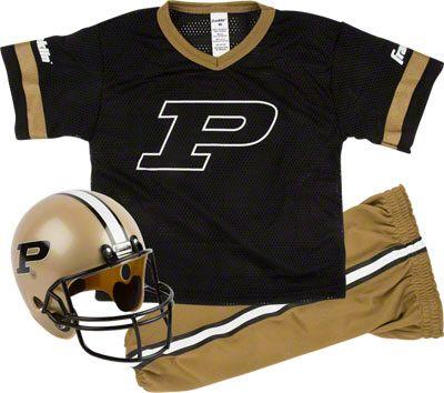 Purdue Boilermakers Kids Youth Football Helmet And Uniform Set