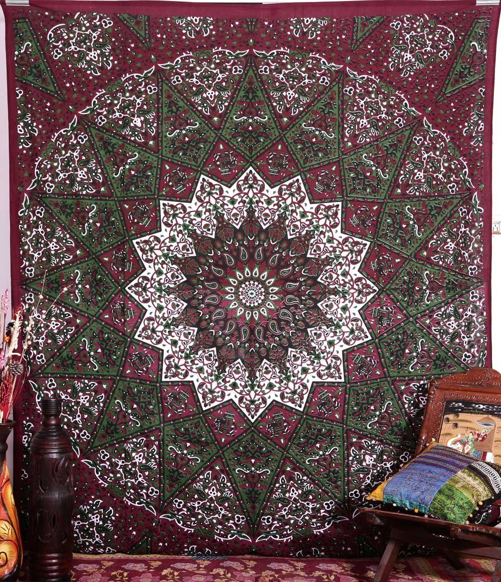 Hippie Star Tapestries Psychedelic Tapestry Sun