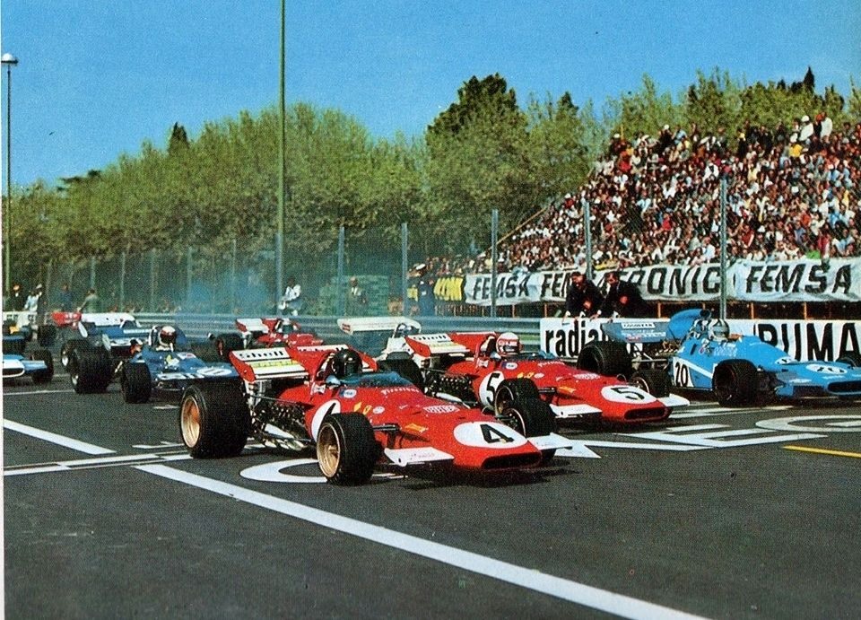 Barcelona 1971.Circuito automovilístico de Montjuic.
