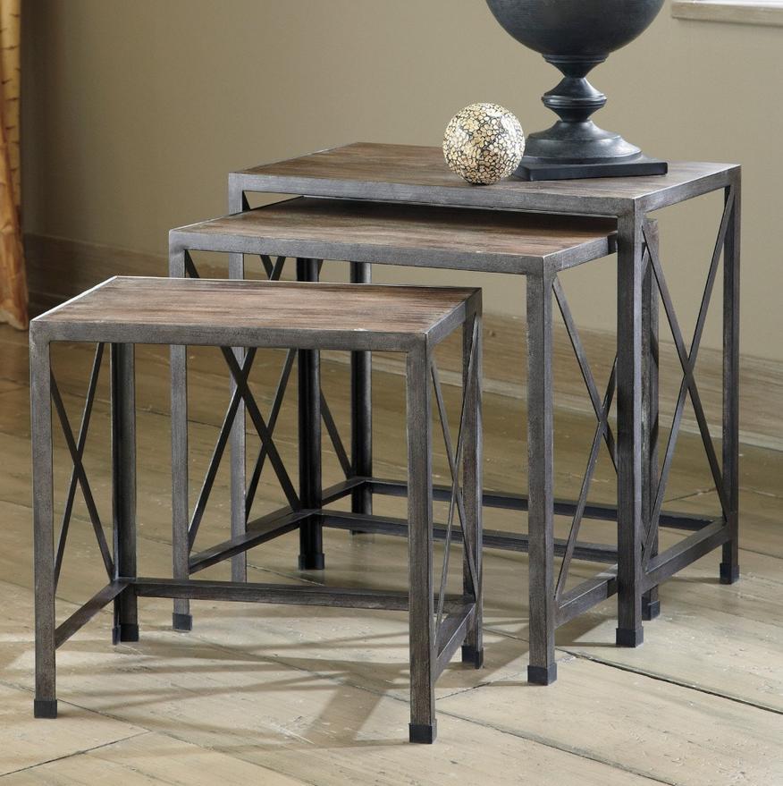 Nesting Rustic End Tables Nesting End Tables Rustic End Tables