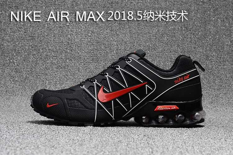 finest selection fd7d9 1176d 2018.5 Nike Air Max Hot Run Shoes Black White Red For Men