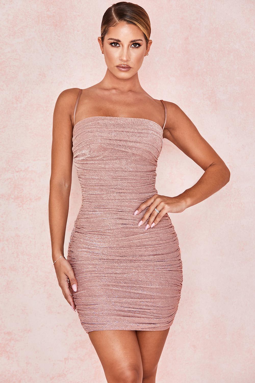 Clothing Bodycon Dresses Ella Pale Pink Sparkle Mesh Mini Dress Bodycon Dress Mini Dress Sparkle Dress [ 1500 x 1000 Pixel ]