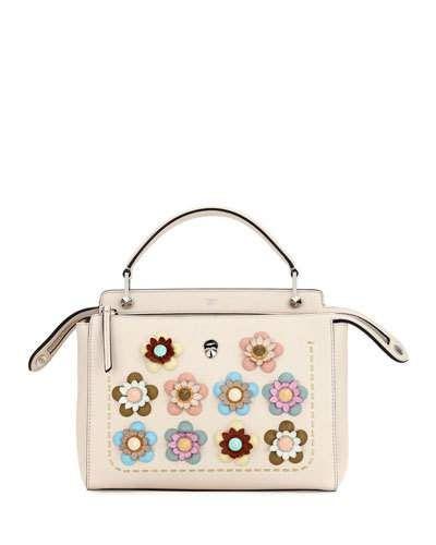 ... at Neiman Marcus. V3CKK Fendi Dotcom Medium Flower Studded Satchel Bag 0b23bc44888ad