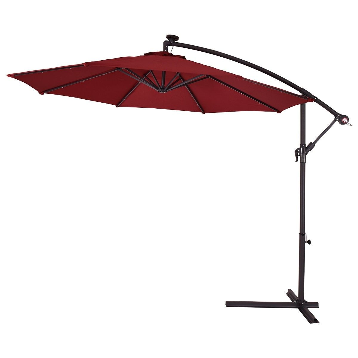 10 Patio Hanging Umbrella Sun Shade With Solar Led Lights Patio Umbrella Cantilever Umbrella Canopy Outdoor