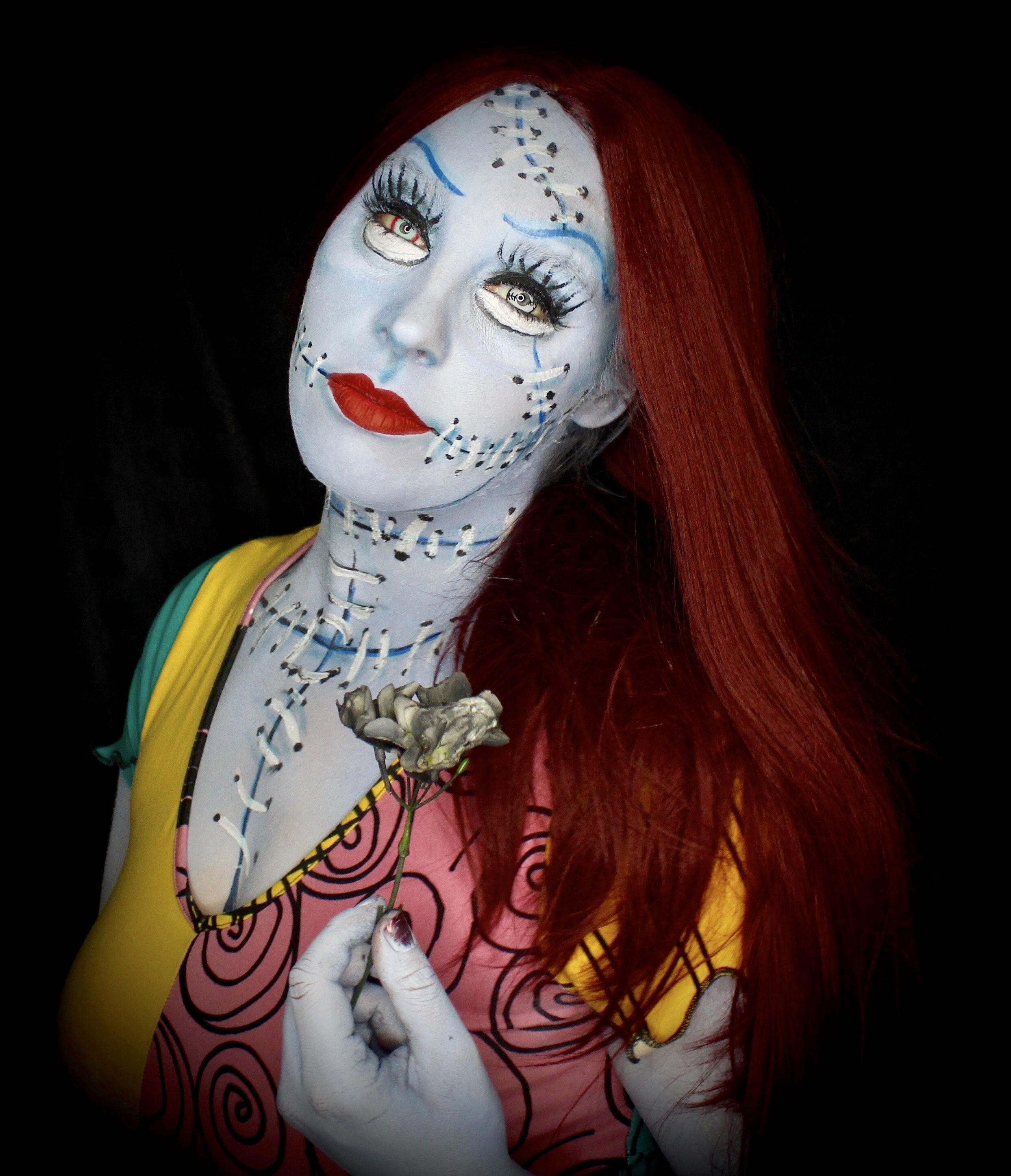 "Mehron Makeup Sally from ""The Nightmare Before Christmas."" Follow ..."