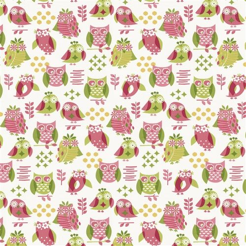 Girly Owl Fabric by the Yard | Carousel Designs 500x500 image