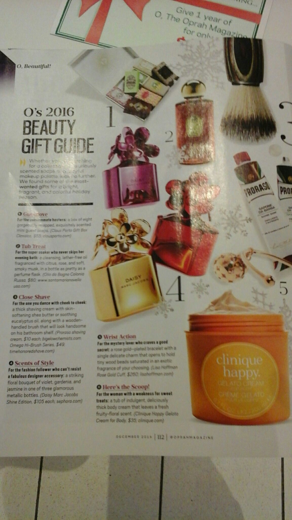 Clinique Happy Gelato Body Cream In The Holiday Issue Of Oprahs Gieve Eucalyptus Lotion Favorite Things