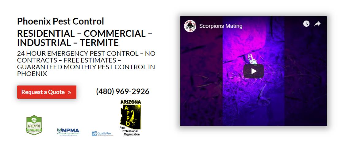 Top Phoenix Pest Control Request A Quote Pest control