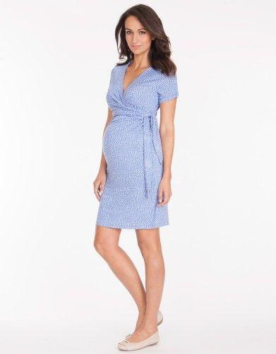3cb640165d1 Baby Blue Polka Dot Maternity Dress | Best Maternity Dresses | Polka ...