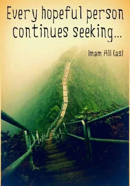 Every Hopeful Person, Continues Seeking ! | quotes | Imam