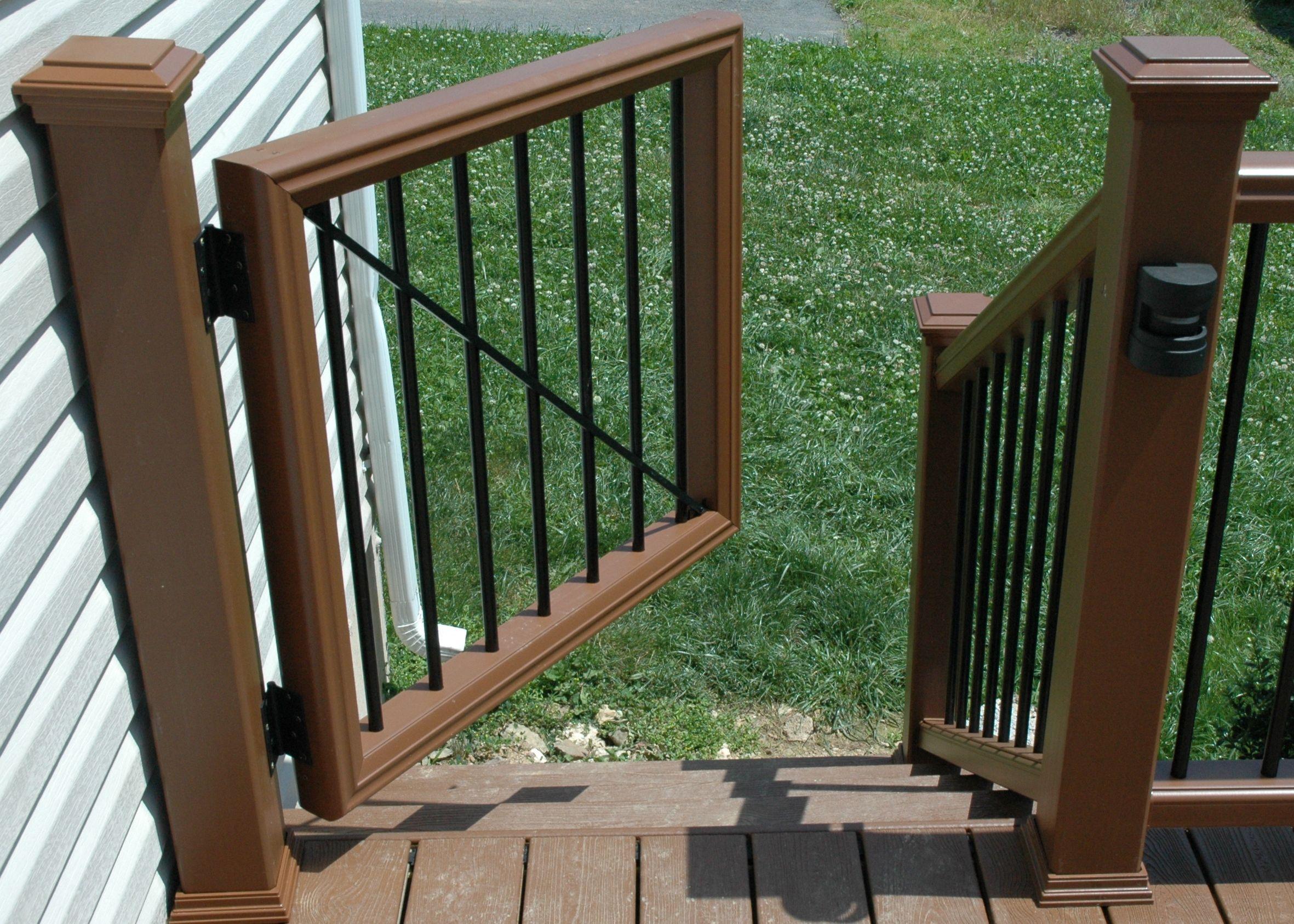 Custom Trex Transcend Gate Deck Gate Outdoor Gate Backyard Gates
