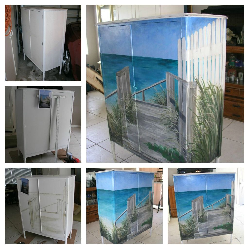 Painted Furniture Jean S Coastal Art Beach Furniture Painted