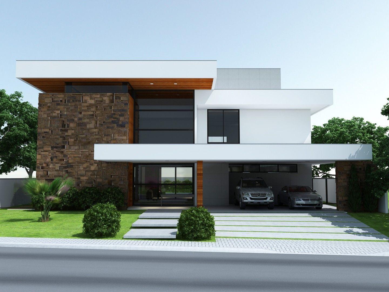 Projetos costa fizinus schmitt arquitetura casas en for Casa design moderno