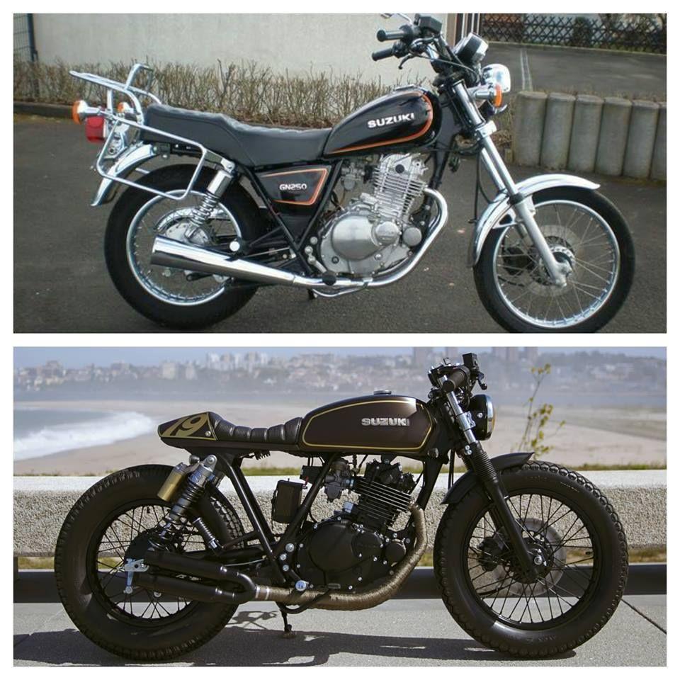 Bn Suzuki Gn250 Cafe Racer Kit Caferacer Dreamwheelsheritage Motorcycle