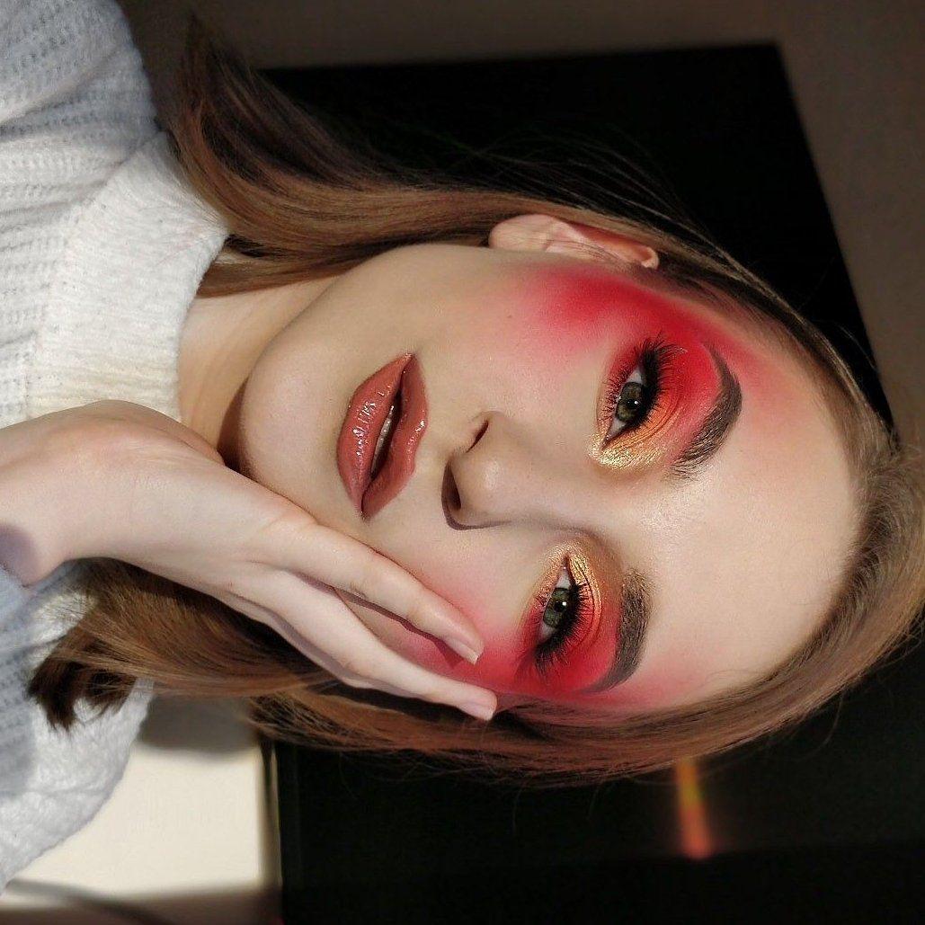 makeup lips red inspiration