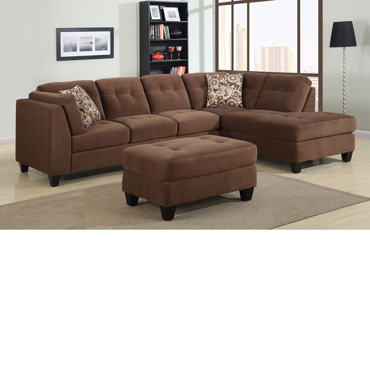 The Dump Furniture - BROWN CHAISE SECTIONAL
