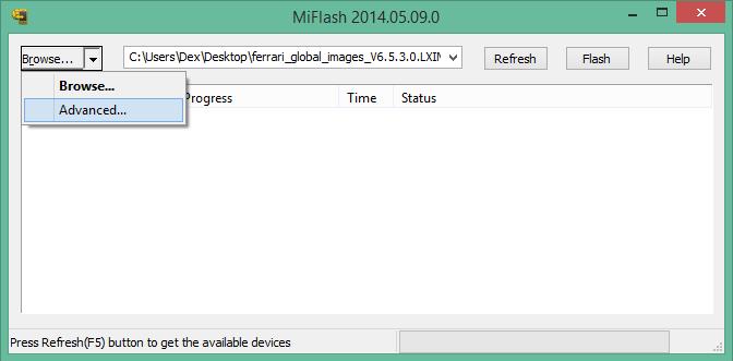 MI Flash Tool Advanced Button | Xiaomi Mi4i | Xiaomi mi4i, Brick