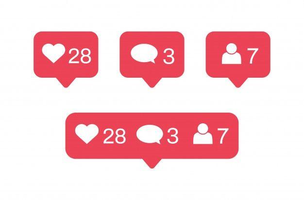 Conjunto Plano De Iconos Y Notificaciones De Instagram Descargar Vectores Gratis Logotipo De Instagram Pegatinas Imprimibles Iconos De Instagram