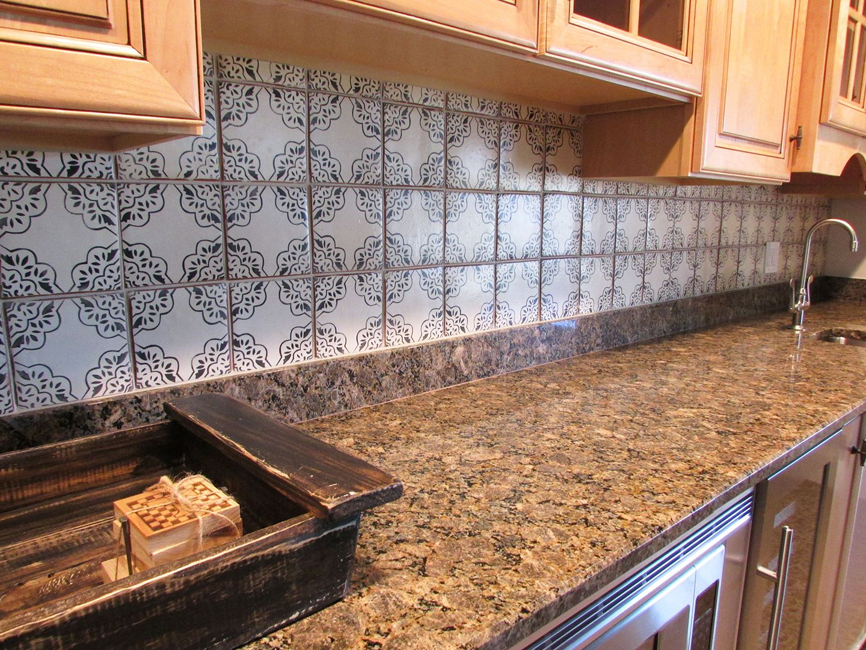 Tabarka Kitchenette Tile Backsplash Backsplash Kitchen Remodel Basement Kitchenette