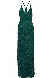 Mikael AghalSequined tulle gown