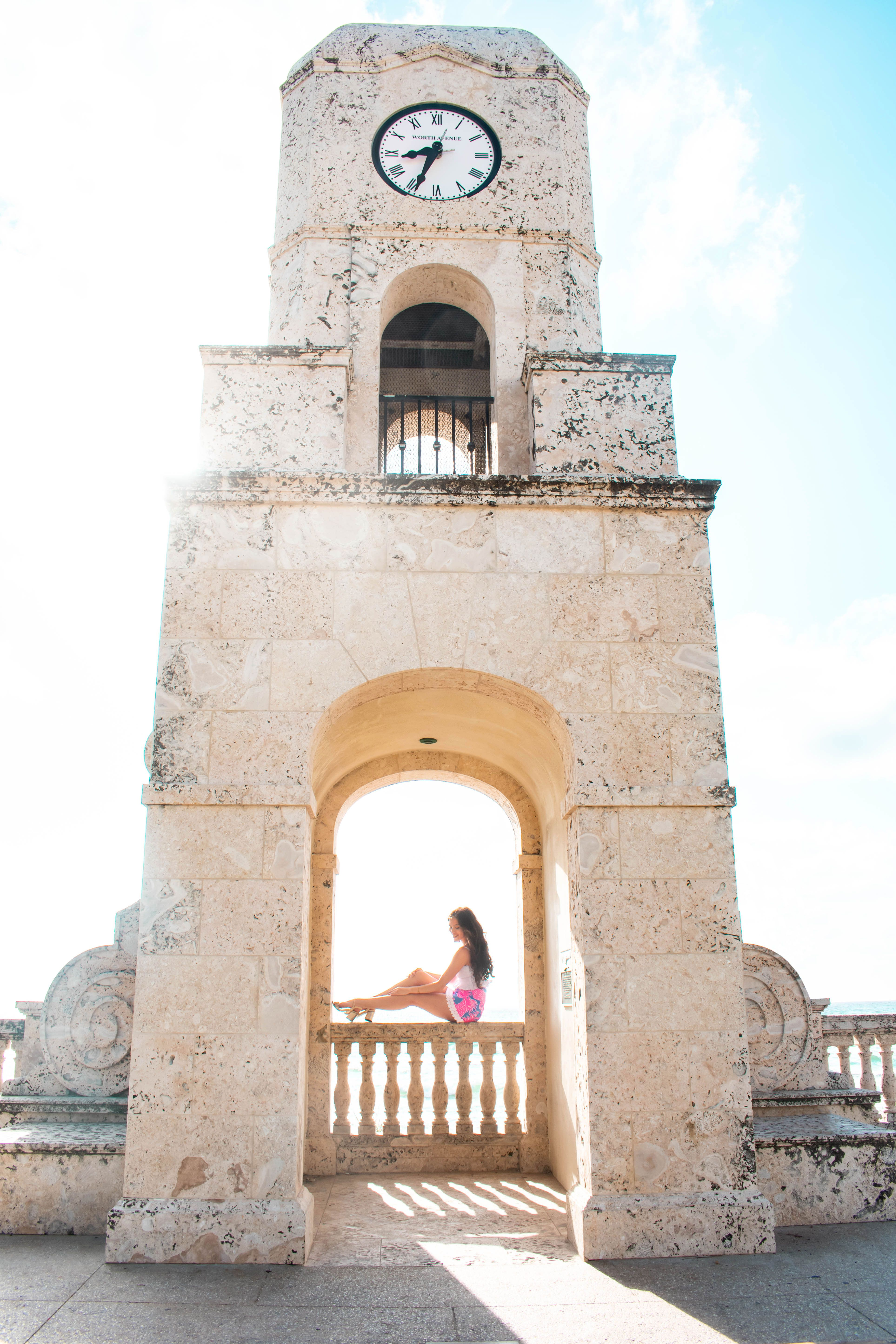 2e0133aa25e717 Worth Ave Clocktower, Lilly Pulitzer Izzy Skirt, Palm Beach destination,  what to do