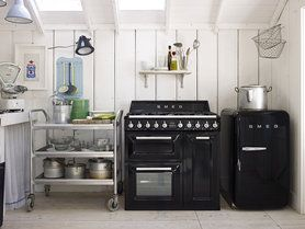 Retro Kühlschrank In Schwarz : Smeg küchengeräte im retro design kühlschränke und co smeg