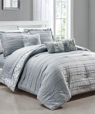 Gray Quinn Comforter Set