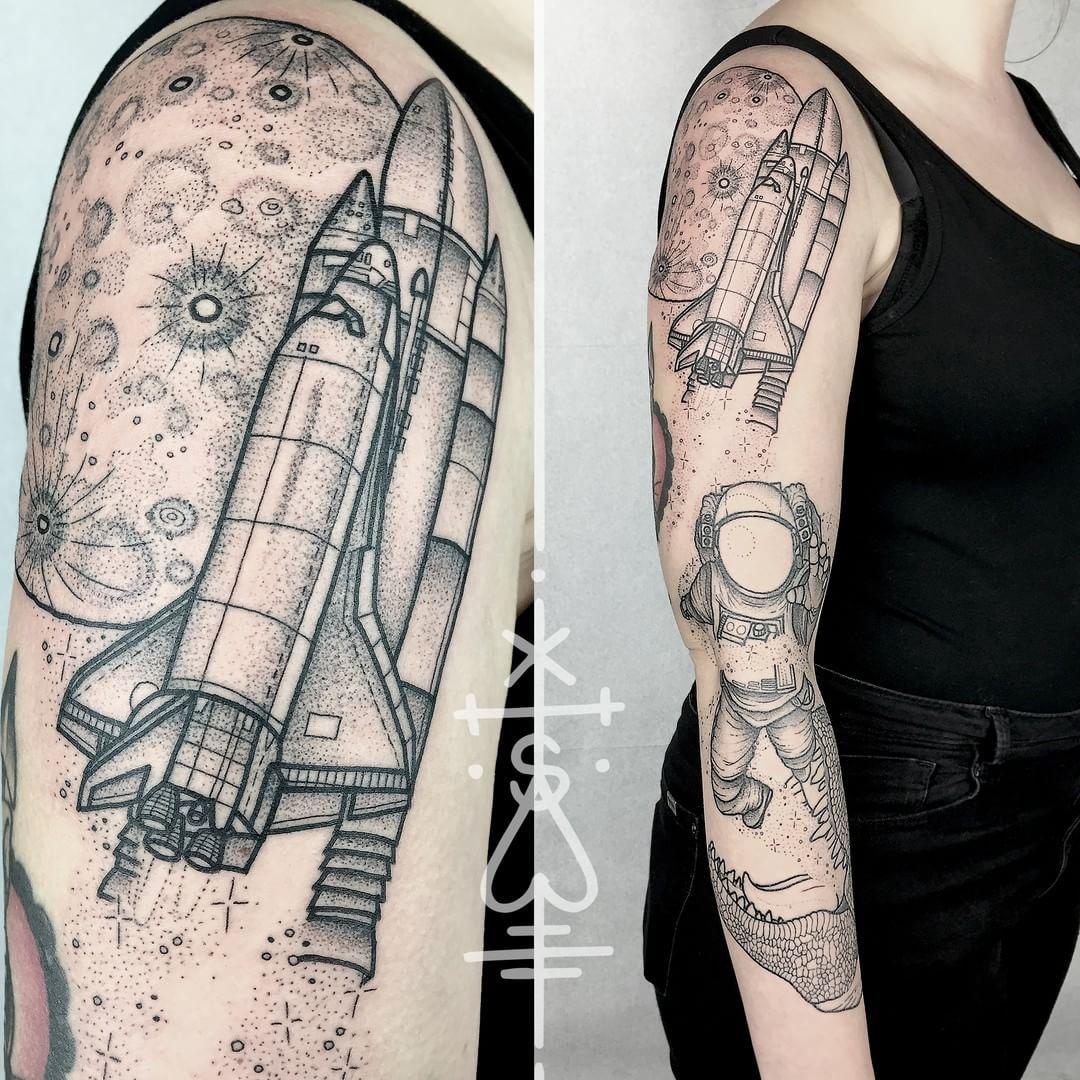 astronaut spaceship tattoo - photo #37