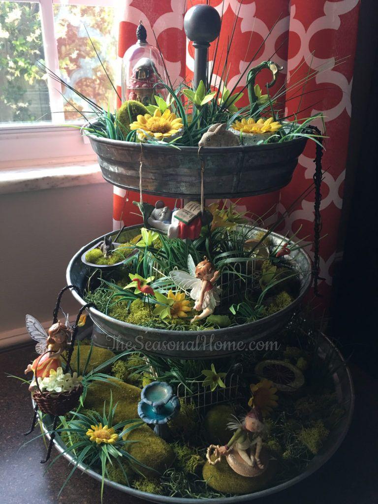 Spring multilevel Faery Garden Fairy garden, Indoor
