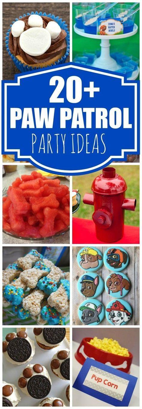 Creative Paw Patrol Party Ideas #boybirthdayparties