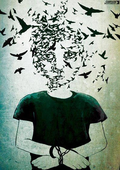 Free your mind. Today's cartoon by Lorenzo Conti: www.cartoonmovement.com//cartoon/10169