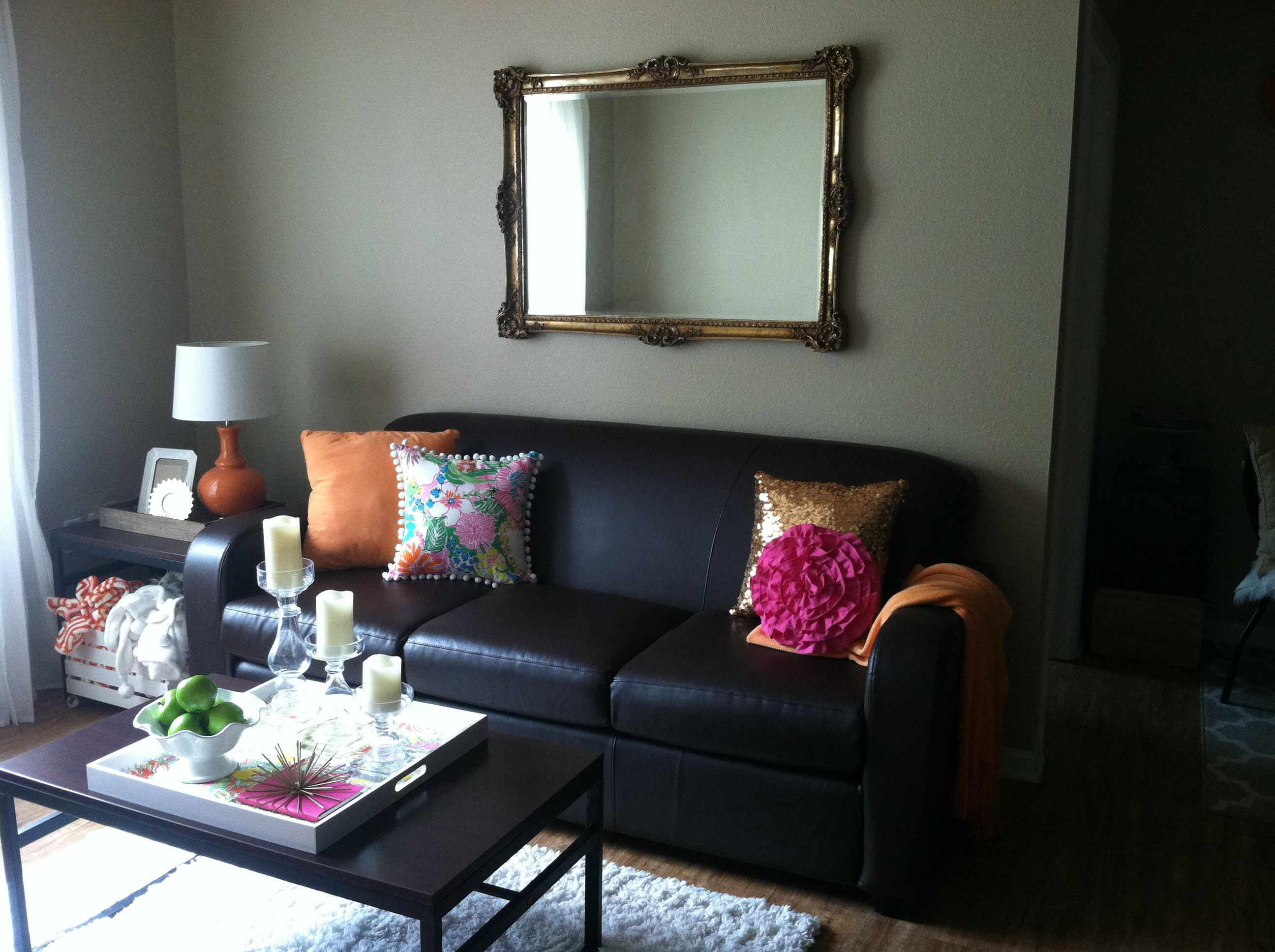 Pink And Orange Living Room Gold Sequin Pillow Lilly Pulitzer