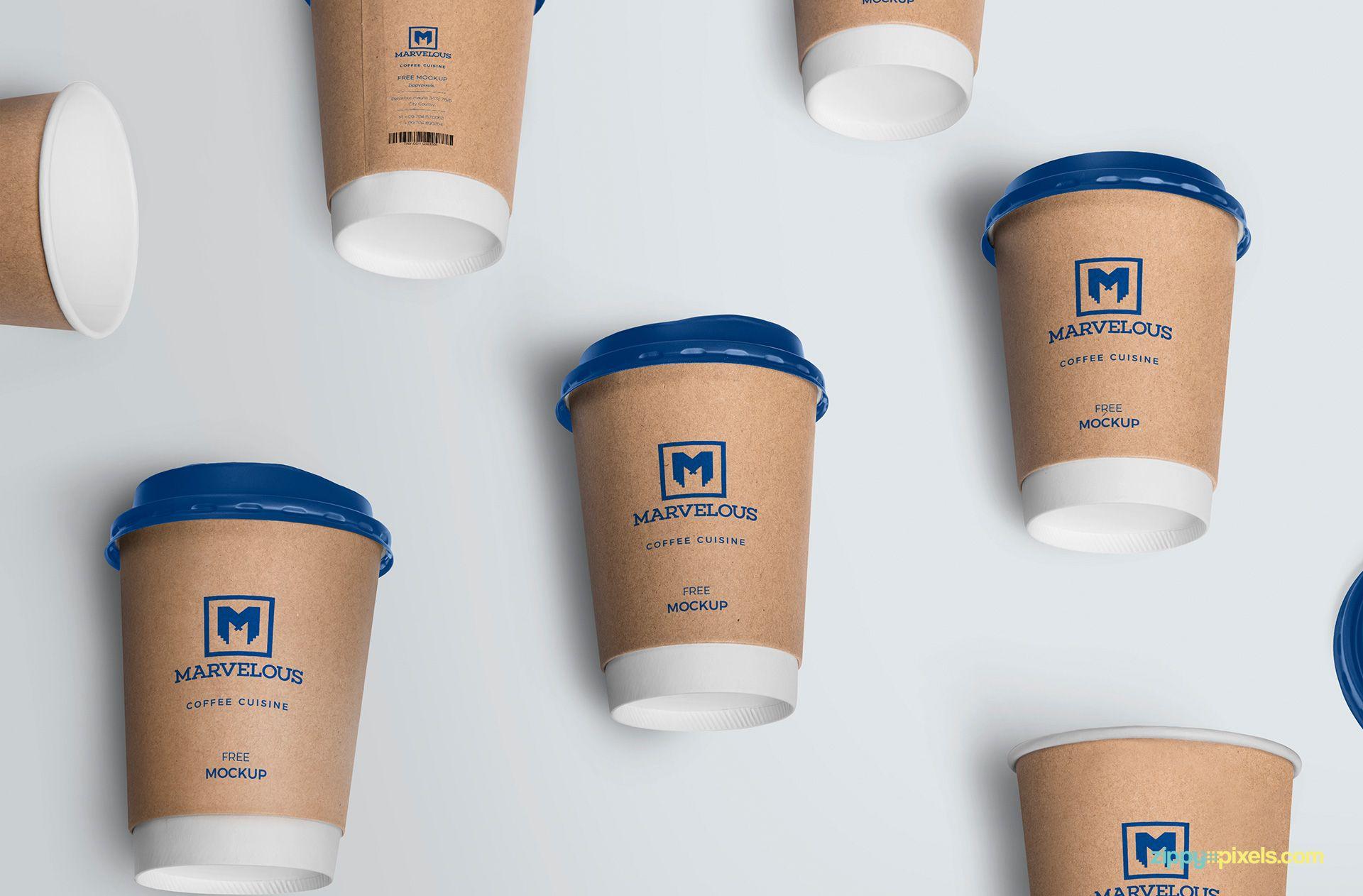 Coffee Cup Mockup Free PSD カップデザイン, ヴィンテージクラフト, コーヒーカップ