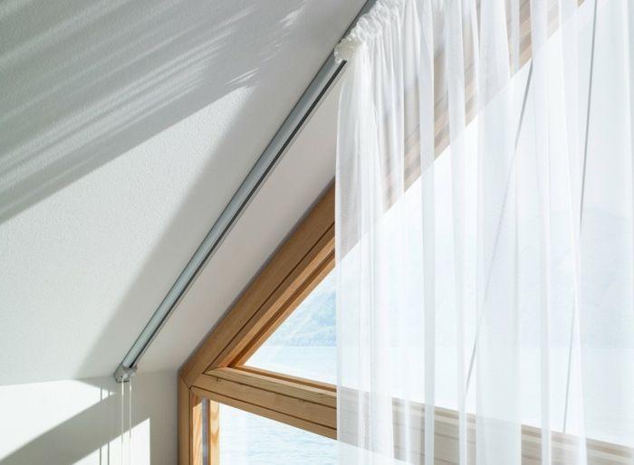 ▷1001 + Ideas for Gorgeous Attic Room Curtain Ideas Curtain ideas - cout extension maison 20m2