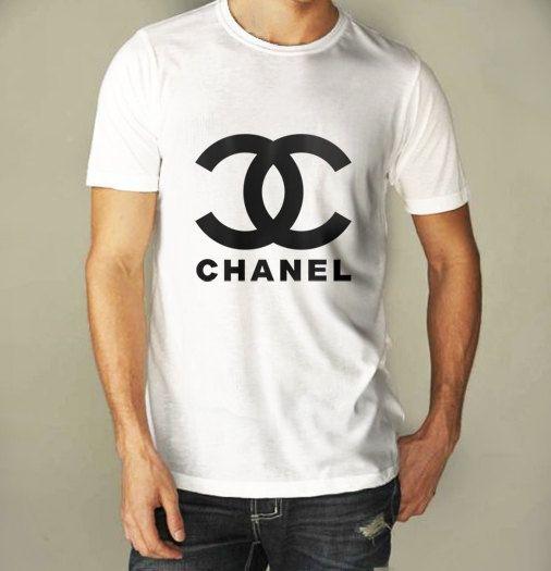 d8c2fd4ed7e54c Chanel Logo For Men White Shirt S to XXXL by CahyaAbadi on Etsy, $21.25