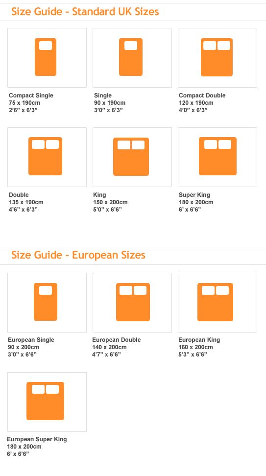 Portofino World Bed Size Guide A Apart
