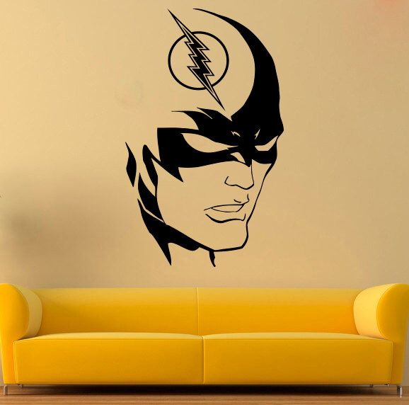 Flash Vinyl Decal The Flash Wall Sticker Comics Stickers Wall Vinyl Decor 7gsx Wall Vinyl Decor The Flash Vinyl Decals