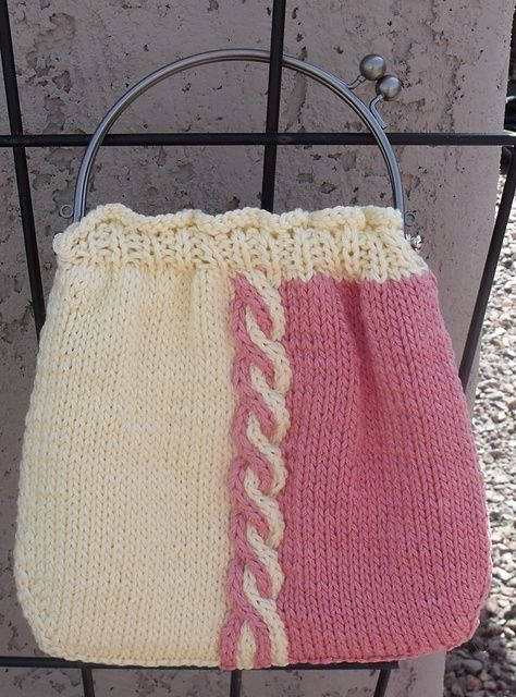 Summer Cabled Bag Pattern By Tina Sanders Crochet Pinterest