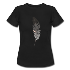 Pluma. Camiseta negra http://nunilo.spreadshirt.es/