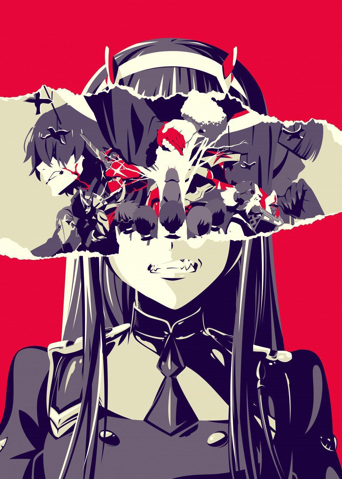 Rage Anime & Manga Poster Print metal posters Displate