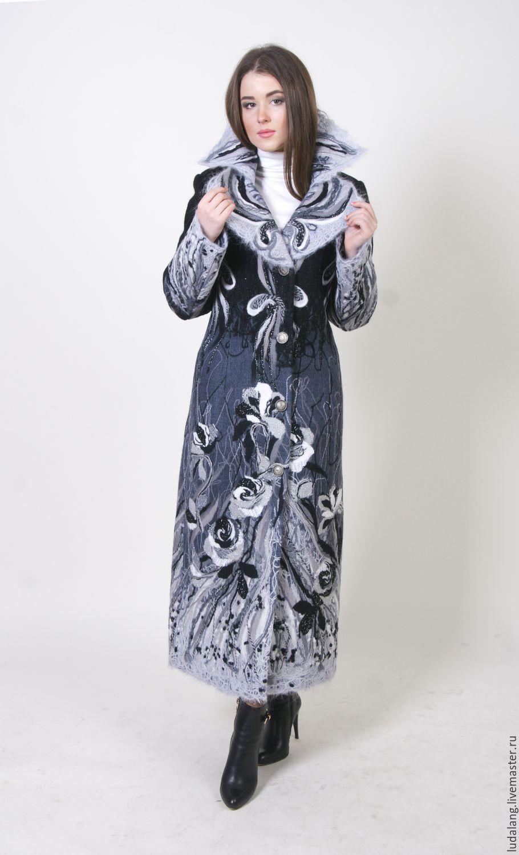 5b112d5d543 Купить Пальто шерстяное Снежные розы - серый
