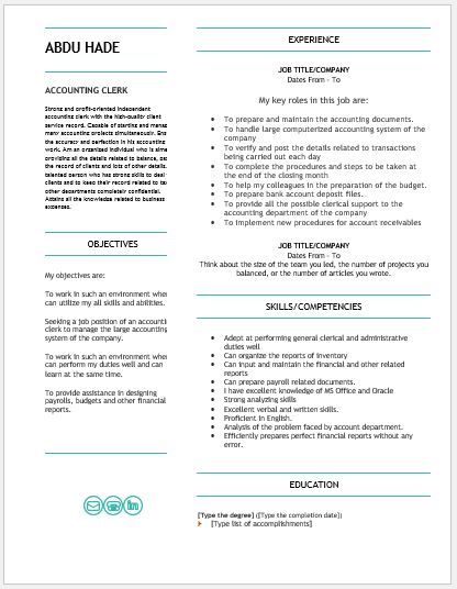 Account Receivable Resume Delectable Accounting Clerk Resume Download At Httpwriteresume2 .