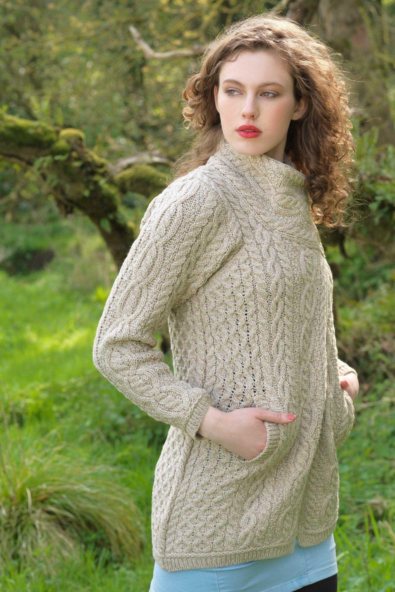 Best Top 10 Irish knit Sweaters For Women   Crochet coat ...