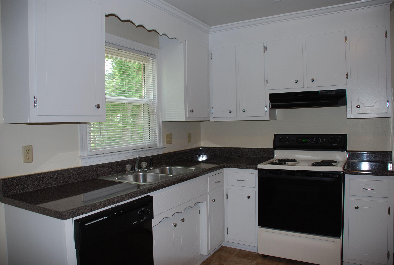 Kitchen In Garden Style Apartment
