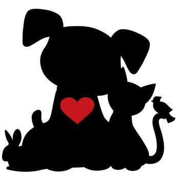 clip art of pet silhouettes heart dog clip art pictures dog rh pinterest com clipart dog grooming enniskillen clipart dog grooming enniskillen