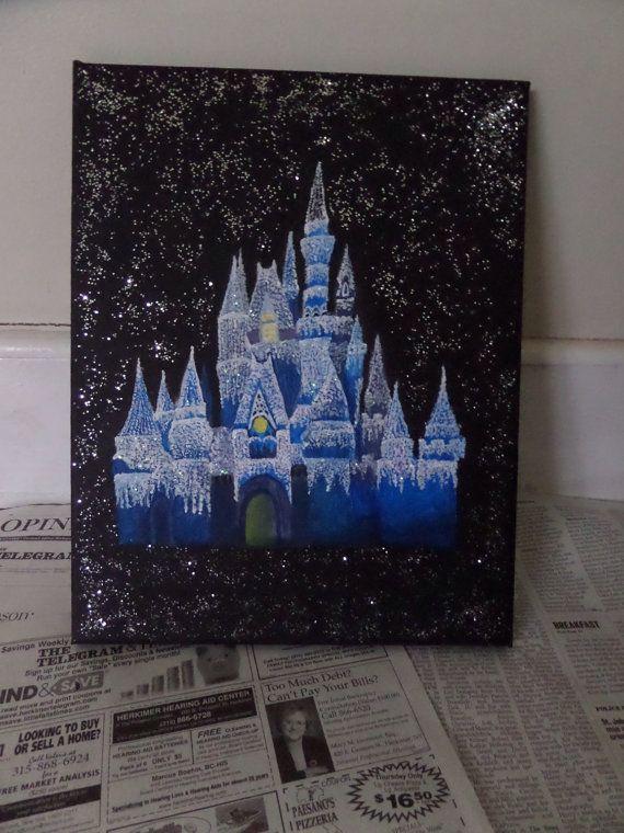 Disney Cinderella's Castle acrylic painting by ...